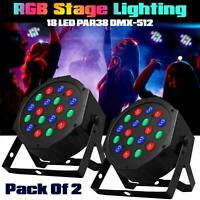 2x RGB Laser Projector Stage LED Lighting Party Disco DJ Wedding Xmas Light
