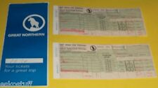 Great Northern Empire Builder Ticket Folder with ticket stub 1970 trip See!