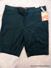 "Dickies Uniform Shorts Girls Jrs Sz 20 Fit 34x10"" Stretch Bermuda Black Nwt"