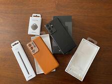 New listing Samsung Galaxy S21 Ultra 5G - Factory Unlocked - Phantom Black Plus Extras!