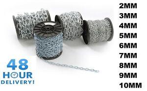 Strong Heavy Duty Steel Chain Zinc Galvanised Welded Security Links 2mm - 12mm