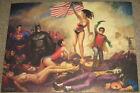 Nathan Szerdy SIGNED Lady Liberty DC Art Print ~ Wonder Woman Batman Superman