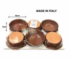 Set 6 Pezzi Tegami Tegamini In Terracotta Con Manici 16cm hmj