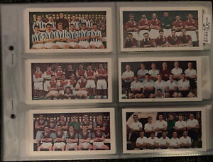 Ex Cond Full Set Soccer Teams Bubble Gum Cards No 1 Series 48 Manchester United