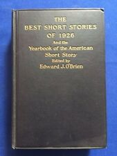 THE BEST SHORT STORIES OF 1926 - 1ST. ED. WITH ERNEST HEMINGWAY'S THE UNDEFEATED