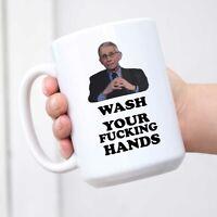 Dr Fauci Mug Wash Your F#cking Hands Two Tone Mug Dr Anthony Fauci Sayings Mug