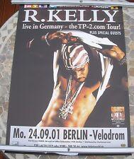 R KELLY TP2.COM 2001 tour poster 33 x 23  original