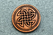 Jewelry Birch Wood New #123 Celtic Knot Brooch Pin Laser Engraved