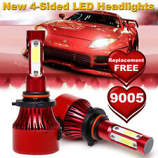 2000W 300000LM 4 Sides Cree LED Headlight Lamp 9005/HB3 High Low Beam Bulb 6500K