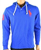 Polo Ralph Lauren Mens Hoodie New M L XL XXL Blue Long Sleeve Mesh Shirt Knit