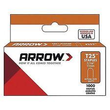 Arrow T25 257 Round Crown Staples Gray 7/16 In. L 1000 Count 18 Gauge