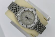 Midsize Tag Heuer 982.015 Gray Silver Military 1000 Watch Womens Professional
