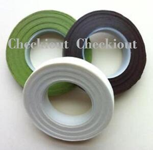 """2 Pk Florist Floral Stem Tape Wrap 1/2"""" 30Yards Wedding Bouquot Corsage Supplies"""