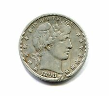 1898 S BARBER HALF DOLLAR very fine VF