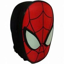 NEW Spider-Man 3D Face  Backpack School Shoulder Bag Marvel Gym Swimming