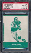 1961 Lake to Lake Packers #36 Willie Wood PSA 6 (FB01)