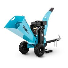 Petrol Wood Chipper Garden Mulcher Garden Shredder Unleaded Petrol 15hp 120mm