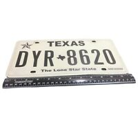 """Motor Vehicle Metal License Plate """"The Lone Star State"""" TEXAS Auto Tag DYR-8620"""