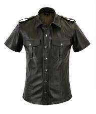 Old Look Antik leder Gay,le Lederhemd Leder hemd,Leather shirt,Chemise Cuir Gr.M
