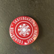 Skateboarding Heritage pinback button badge 1-1/2""