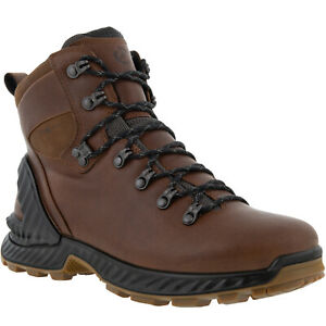 ECCO Mens Exohike Water Repellent Yak Leather Outdoor Walking Boots Cocoa Brown
