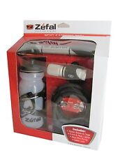 Zefal Bicycle Starter Set - Zefal Mini Pump, Water Bottle w/Cage,Cable lock, lts