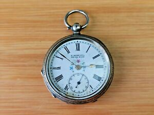 Decorative Vintage H Samuel Fob Watch in 0.935 Silver Case for Repair