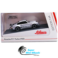 Schuco 1:64 Porsche 911 Turbo (930) Silver - Diecast Model Car