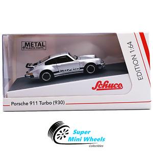 Schuco 1:64 Porsche 911 Turbo (930) Silver - Diecast Model Car