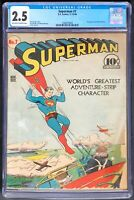 Superman #7 CGC 2.5 DC 1940 Perry White