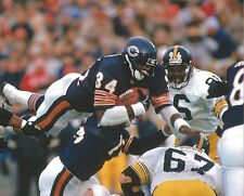 WALTER PAYTON 8X10 PHOTO CHICAGO BEARS PICTURE VS STEELERS
