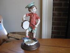 "GA Giuseppe Armani Italy Boy With Drum 10"" Figurine"