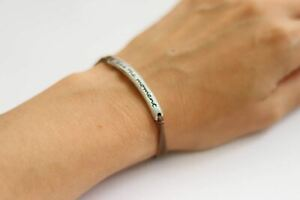 Silver Live the moment bracelet for women brown cord yoga jewelry gift for her