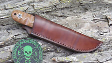 ESEE MODEL PR4 CUSTOM LEATHER OUTBACK KNIFE SHEATH CASE BY CHARLIE CLINE