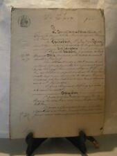 Acte notarié généralité Nancy 1865 vente aux encheres de vigne Chavigny Lorraine