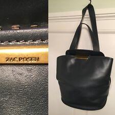 ZAC POSEN Blue/Gray/Green Leather Blythe Sling Handbag Shoulder Bag Satchel