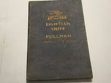 1937 HUMBER SNIPE EIGHTEEN & PULLMAN OWNERS DRIVER INSTRUCTION MANUAL HANDBOOK