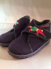 Elefanten Toddler Wool Boots Size 4 EUR 19 Embroidered Elephant Velcro Dark Blue