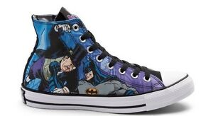 Converse Chuck Taylor All Star Hi Batman Penguin Sneakers 154902C Size 9.5 - 13