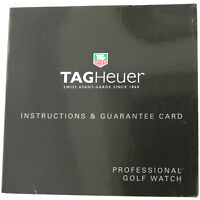 TAG HEUER PROFESSIONAL GOLF WATCH INSTRUCTIONS & GUARANTEE CARD BOOKLET