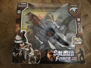 SOLDIER FORCE Chap Mei Toy Jet Plane Military Camouflaged Sounds & Lights