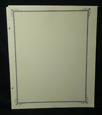 """Scott Specialty American """" Border A """" Quadrilled blank pages 30 Sheets"""