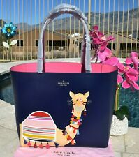 🌸 NWT Kate Spade Spice Things Up Camel Luvvie Leather Tote NEW