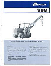 Equipment Brochure - Fiat-Allis - SB8 - Side Boom Crane Hoist - c1978  (E4113)