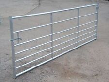 15FT 7 RAIL ASHCOMBE GALVANISED METAL FIELD FARM SECURITY GATE ( VAT Included )