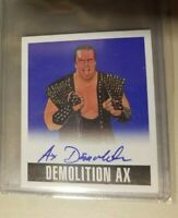 2014 Leaf Originals DEMOLITION AX BLUE #/10 wrestling Card Auto Autograph WWE