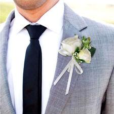 Best Man Corsage Silk Rose Pin Brooch Wedding Flower Boutonniere Accessories New