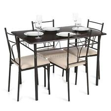 5 Piece Metal Dining Table Set 4 Chairs Kitchen Room Breakfast Dinette A8F0