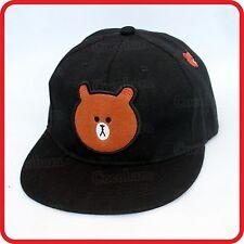 BROWN POLAR TEDDY BEAR BASEBALL CAP HAT-ANIMAL CARTOON-DRESS-UP-COSTUME-PARTY