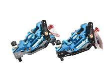 Juin Tech GT-P Road Mountain Bicycle Bike 4-Piston Disc Brake Caliper Set Blue